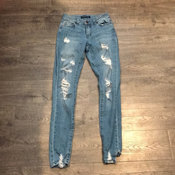 Blue Spice Denim - Ripped Denim Jeans